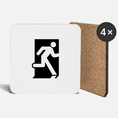 Exit Emergency Exit - Coasters