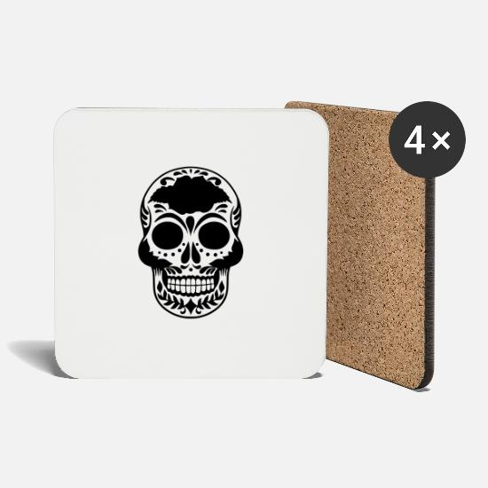 Death Mugs & Drinkware - death - Coasters white