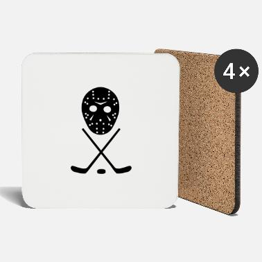 Ice Hockey Mask Ice Hockey Sticks, Puck and Mask - Coasters