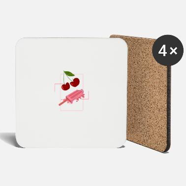 icecream and cherry - Coasters