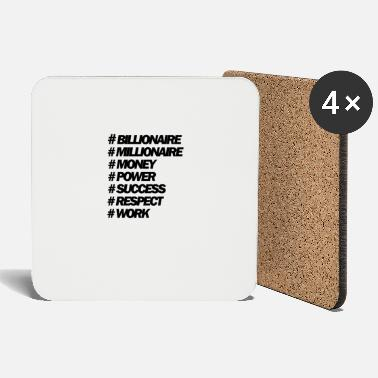 Auctions Hastags Money And Power People - Coasters