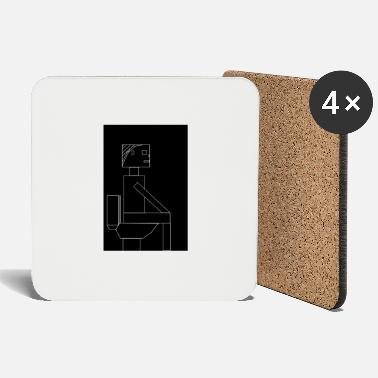 Restroom restroom sign - Coasters