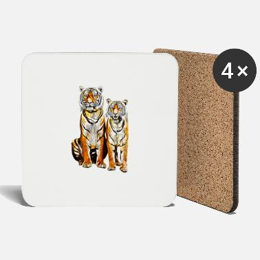 Couples gxp tiger couple couple vector art - Coasters