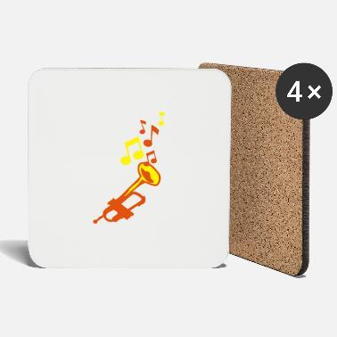 Trumpet trumpet trumpet trumpet music notes - Coasters