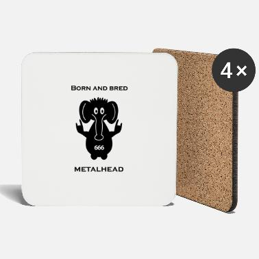 Bred Born and bred metalhead classic logo - Coasters