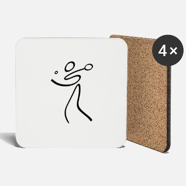 Tennis Table Tennis Pictogram - Coasters