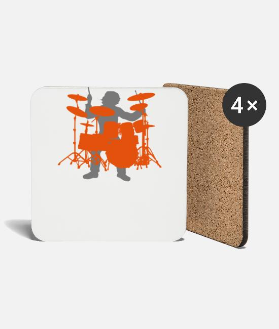 Drummer Mugs & Drinkware - Drums - Coasters white