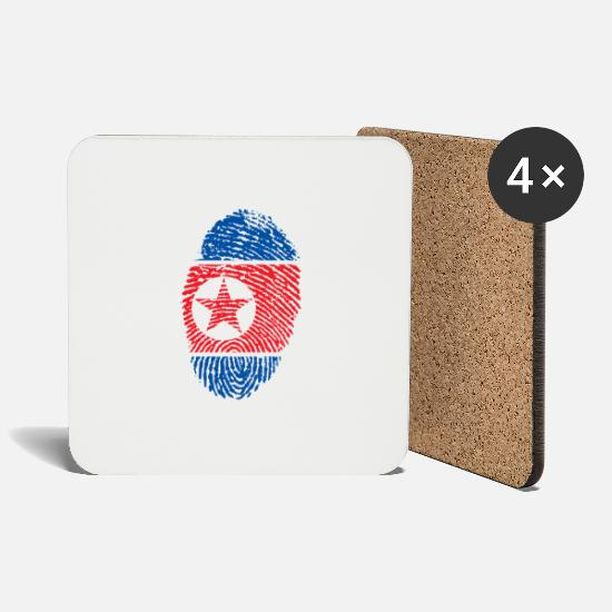 Gift Idea Mugs & Drinkware - NORTH KOREA NORTH KOREA GIFT T-SHIRT - Coasters white