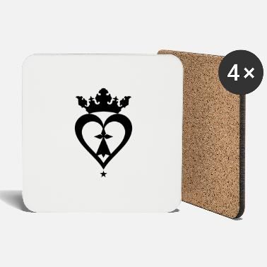 Mark Something Breton breizh hearts mark 610 - Coasters