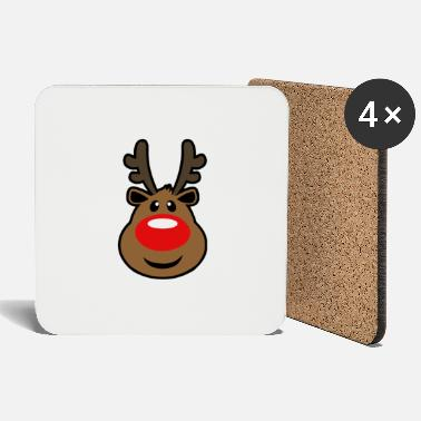 Rudolph, the red nosed Reindeer Christmas design - Coasters