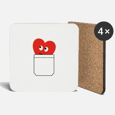 Humorous Son Provoking heart in pocket - Coasters