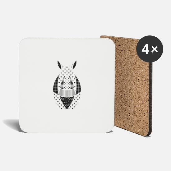 Rhinoceros Mugs & Drinkware - Rhino - Coasters white
