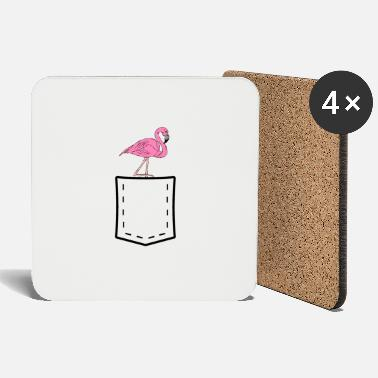 Chest Flamingo chest pocket Chest Pocket - Coasters