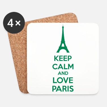 Keep Calm Keep Calm And Love Paris - Lasinalustat (4 kpl:n setti)