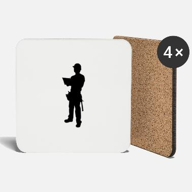 Winding Staircase construction worker - Coasters