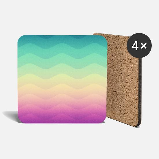 Bestsellers Q4 2018 Mugs & Drinkware - Minimal Geometry Waves (Rainbow) - Phone Case   Other - Coasters white