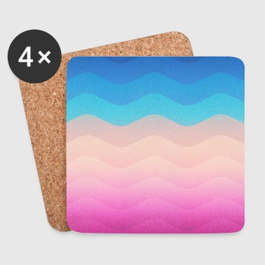Pride Rainbow Wave (Colorful Geometric) Phone Case - Coasters (set of 4)