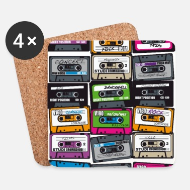Cassette My First Playlist-hip hop - Dessous de verre (lot de 4)