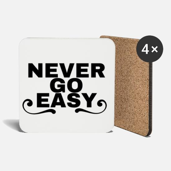 Go Mugs & Drinkware - Never go easy - Coasters white