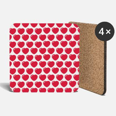Round hearts pattern - Coasters