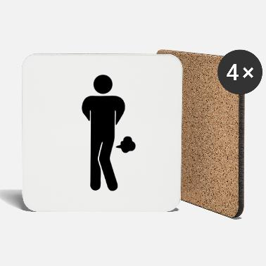 Restroom Funny Farting Restrooms / Toilet Sign - Coasters