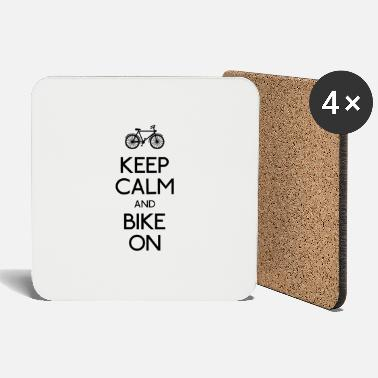 Bike keep calm and bike on - Dessous de verre