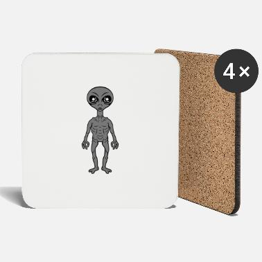 Grey Small grey grey alien - Coasters