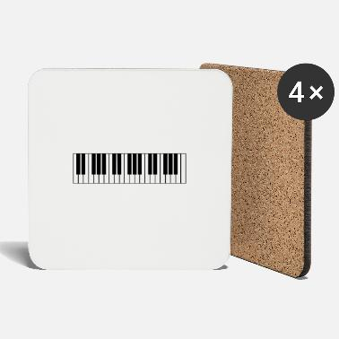 Piano piano, piano keyboard - Coasters