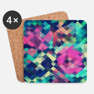 Abstract Rose (Colorful Pattern) Art - Phone Case - Coasters (set of 4)