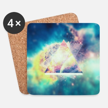 Geometrie Space Kunst (Hipster Green) - Handycase - Coasters (set of 4)