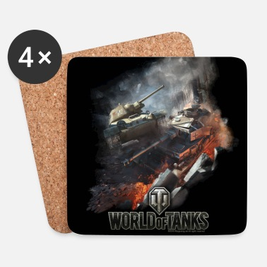 Officialbrands World of Tanks - Battlefield Cover - Coasters (set of 4)