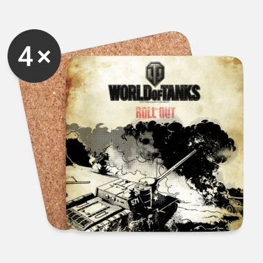 Officialbrands World of Tanks - Battelfield Mono Cover - Dessous de verre (lot de 4)
