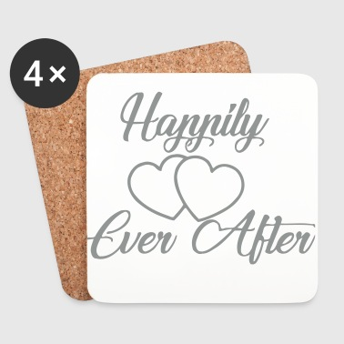 Happily-ever-after-coeur - Dessous de verre (lot de 4)