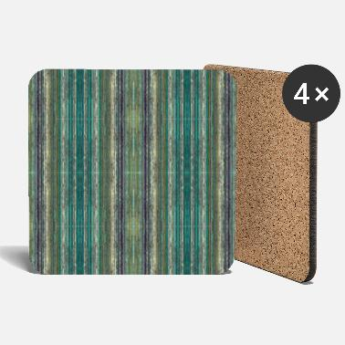 Green abstract vintage design - Coasters