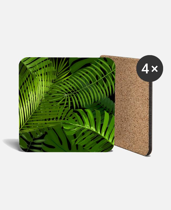 Nature Mugs & Drinkware - Jungle - Coasters white