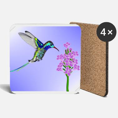 Crittercontest crittercontest Colorful Hummingbird - Coasters