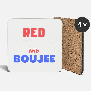 Red White red white and boujee - Coasters