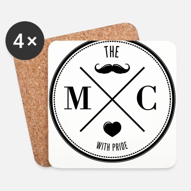 Barbe The Movember Moustache Club with pride - Dessous de verre (lot de 4)