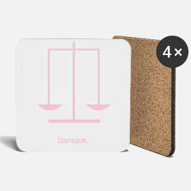 Alphabet Libra Sign - Zodiac Series - Libraque - Coasters