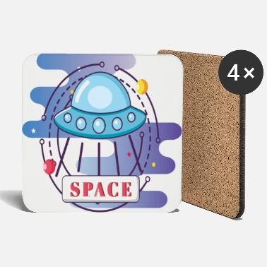 Space Ufo spaceship - Coasters