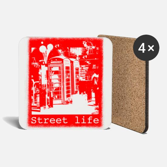 Be Different Mugs & Drinkware - Street Life - Coasters white