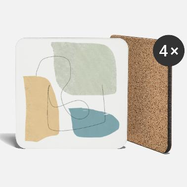 Shape Underwear Minimalistic abstract background N3 - Coasters