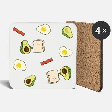 Hungry For avocado toast lovers: delicious pattern - Coasters