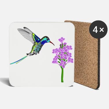 Lilac hummingbird - Coasters