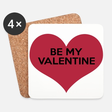 Valentines Day Be My Valentine - Coasters (set of 4)