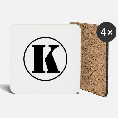 First Name K letter initial letter alphabet last name first name - Coasters