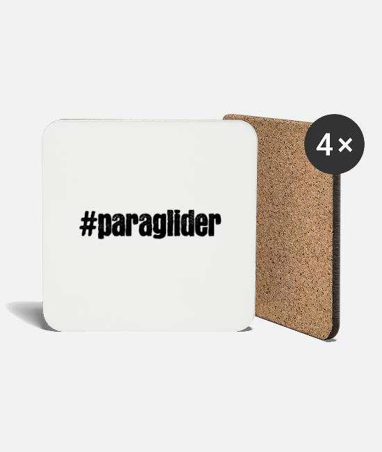 Paraglider Flight Mugs & Drinkware - Paraglider - Coasters white