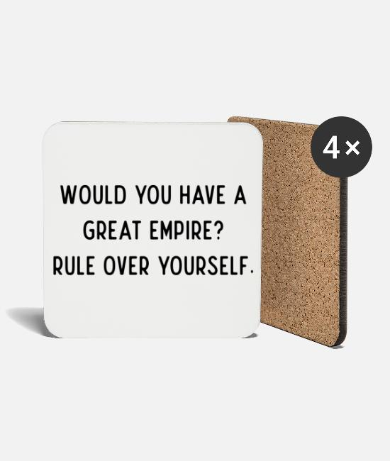 Motivation Mugs & Drinkware - Inspirational quote - Coasters white