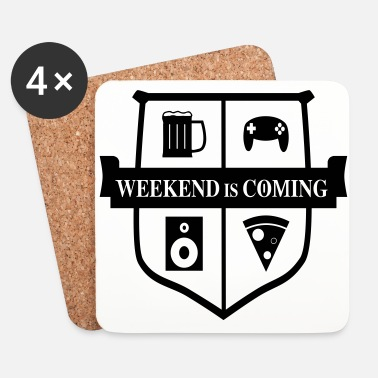 Shield Weekend is coming - Dessous de verre (lot de 4)