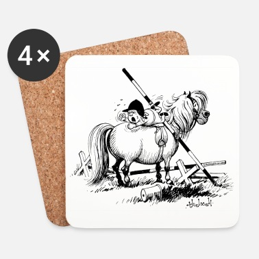 Officialbrands Thelwell 'Hard-bitten Pony' - Coasters (set of 4)